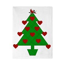 Heart Holiday Tree Twin Duvet