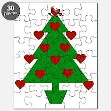 Heart Holiday Tree Puzzle