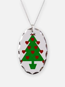 Heart Holiday Tree Necklace