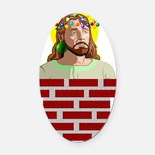 Chimney Jesus Oval Car Magnet