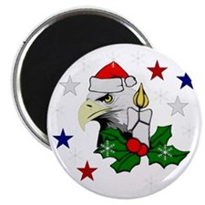 Merry Christmas Eagle Magnet
