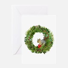 Squirrel Wreath Candle Greeting Card