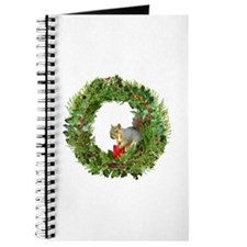 Squirrel Wreath Candle Journal