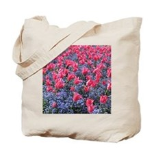 Pink and purple flower field Tote Bag