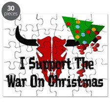 War On Christmas Bull Puzzle