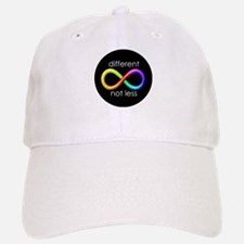 Different, Not Less (white type) Baseball Baseball Cap