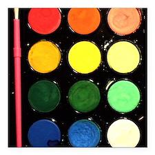"""Paint box colors Square Car Magnet 3"""" x 3"""""""