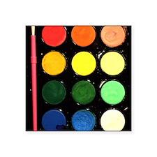 """Paint box colors Square Sticker 3"""" x 3"""""""