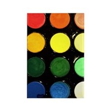 Paint box colors Rectangle Magnet