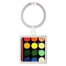 Paint box colors Square Keychain