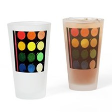Paint box colors Drinking Glass