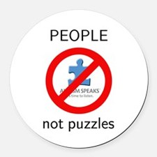 PEOPLE not puzzles Round Car Magnet