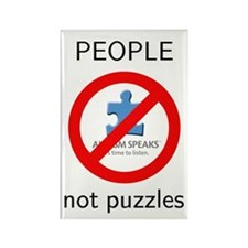 PEOPLE not puzzles Rectangle Magnet