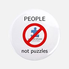 """PEOPLE not puzzles 3.5"""" Button"""