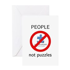 PEOPLE not puzzles Greeting Card