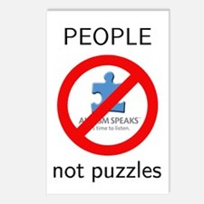 PEOPLE not puzzles Postcards (Package of 8)