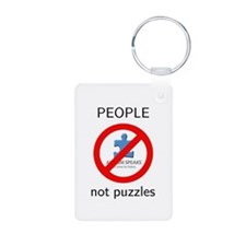 PEOPLE not puzzles Keychains