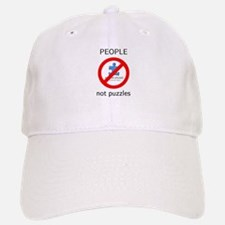 PEOPLE not puzzles Baseball Baseball Cap