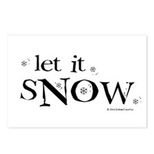 Let It Snow Postcards (Package of 8)