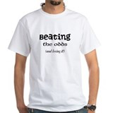 Heart attack beat Mens White T-shirts