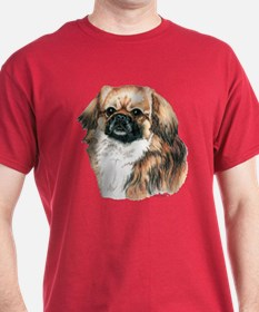 Tibetan Spaniel Tibbie Dark Colored T-Shirt
