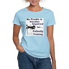 Poodle Agility Ash Grey T-Shirt