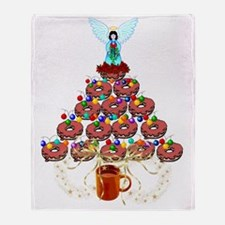 Doughnut Angel Tree Throw Blanket