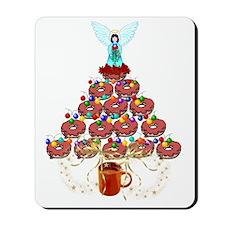 Doughnut Angel Tree Mousepad
