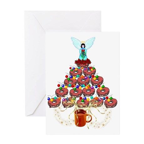 Doughnut Angel Tree Greeting Card