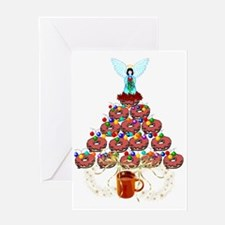 Doughnut Angel Tree Greeting Card