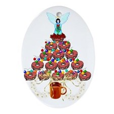 Doughnut Angel Tree Oval Ornament