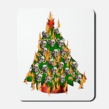 Tree Of Flaming Skulls Mousepad