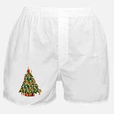 Tree Of Flaming Skulls Boxer Shorts
