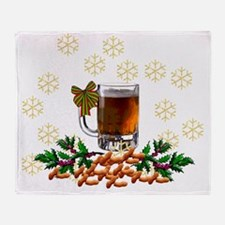 Christmas Beer Throw Blanket