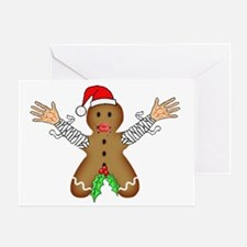 Zombie Gingerbread Greeting Card