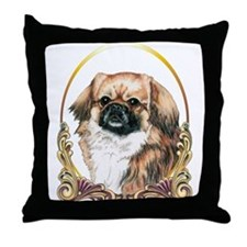 Tibetan Spaniel Holiday Throw Pillow