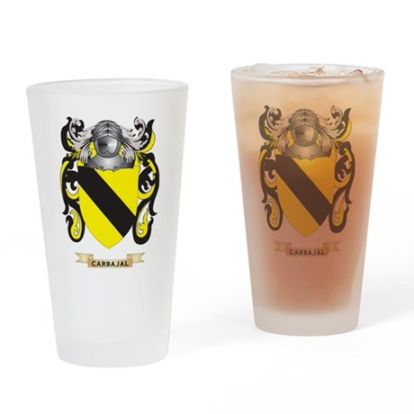 Carbajal Coat of Arms Drinking Glass