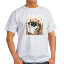 Tibetan Spaniel Holiday Ash Grey T-Shirt