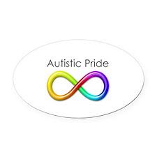 Autistic Pride Oval Car Magnet