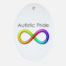 Autistic Pride Ornament (Oval)