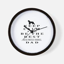Irish Water Spaniel Dad Designs Wall Clock