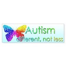 Autism Butterfly Bumper Sticker