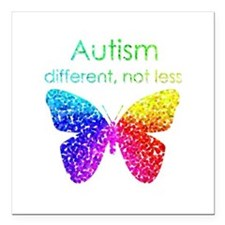 Autism Butterfly, different, not less Square Car M