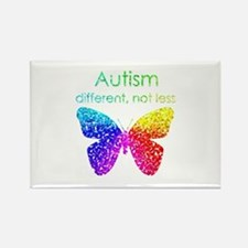 Autism Butterfly, different, not less Rectangle Ma