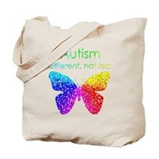 Autism Butterfly, different, not less Tote Bag