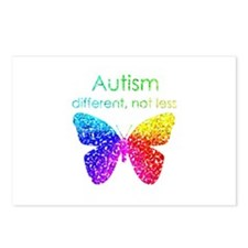 Autism Butterfly, different, not less Postcards (P