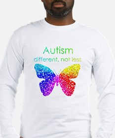 Autism Butterfly, different, not less Long Sleeve