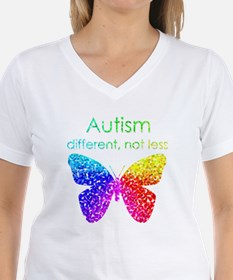 Autism Butterfly, different, not less T-Shirt