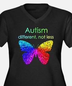 Autism Butterfly, different, not less Plus Size T-
