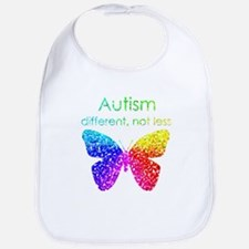 Autism Butterfly, different, not less Bib
